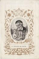 """Lokeren - 1799-1845 """" De Vijlder Franciscus - St.Vincent De Paule - Devotieprenten"""