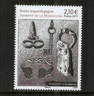 ANDORRA. Restos Arqueológicos De Andorra. Jaciment De La Margineda, Un Nuevo Sello **, Año 2019. - Andorre Espagnol