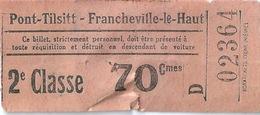 Pont Tilsitt Francheville Le Haut Ticket 2ème Classe - Busse