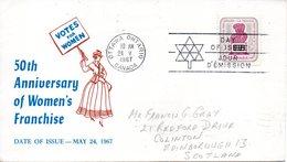 CANADA. N°391 Sur Enveloppe 1er Jour (FDC) De 1967. Droit De Vote Des Femmes. - Premiers Jours (FDC)