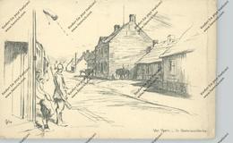 B 8840 STADEN - OOSTNIEUWKERKE, 1.Weltkrieg, Strassenansicht Mit Dt. Soldaten, 1916, Seitenknick - Staden