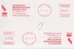 E.M.A Spécimen Secap NL W0059 (Gérard Et Morgenstern Radiologie), -5 9 89, Strasbourg - Medicina