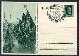 """German Empires1937 GS Mi.Nr.P264/02""""-Reichsparteitag-Vorbeitmarsch Des AD""""mit SST""""Nürnberg""""1 GS Used - Deutschland"""