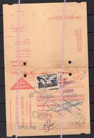 EMA Contre Remboursement Journal La Liberte Clermont 12 Fr + Taxe Ganterie 1955 Auzelles Puy De Dome Gimel - Marcofilie (Brieven)