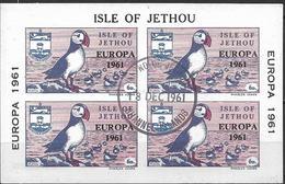 1961 Isle Of  Jethou Bloc Used  Europa - Europa-CEPT