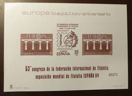 Spanien Europa 1984 Vignettenblock  2633 -34  ** MNH   #5087 - Blocks & Sheetlets & Panes