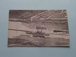 U.S. DREADNAUGHT Passing Through Locks Panama Canal ( 4319 / Edward H. Mitchell ) Anno 19?? ( See Photo ) ! - Krieg