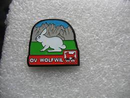 Pin's Elevage De Lapins Blancs à Wolwil En Suisse - Dieren