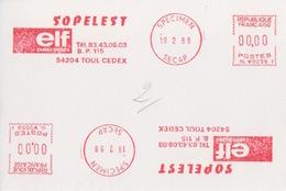 E.M.A Spécimen Secap NL W0059 (ELF, Sopelest Collectivités), 19 2 88, Toul - Fabriken Und Industrien