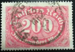 DR Inflation 200Mark Farbe B Geprüft  Mi.Nr.: 248 B Gest. Used Mi.Pr.: 100.--€ - Duitsland
