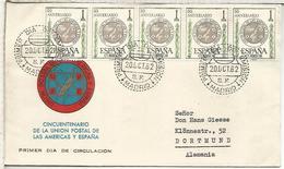 MADRID SPD 50 AÑOS DE LA UNION POSTAL DE AMERICAS Y ESPAÑA - 1961-70 Storia Postale