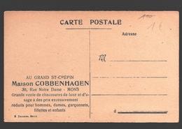 Mons - Carte Publicitaire Au Grand St-Crépin / Maison Cobbenhagen - Vente De Chaussures - Mons
