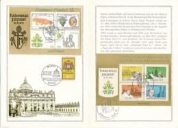 GERMANY  Gedenkblätter Papst Johannes Paul II-  Siehe Scan - Papi