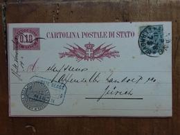 REGNO - Cartolina Postale Inviata A Zurigo Con Francobollo Aggiunto + Spese Postali - Poststempel