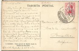 SEGUNDA REPUBLICA TP CON MAT 1932 BUZONES COLUMNA MEDIODIA MADRID - 1931-50 Cartas