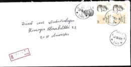 Belgique.  TP 2127 (x 2) + 2352 (déchiré)  L. Rec.  Halte Geel 4 > 2018 Antwerpen   1991 - Storia Postale