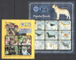 X238 2009 ST. VINCENT FAUNA DOGS POPULAR BREEDS #6628-40 MICHEL 20 EURO 2KB MNH - Hunde