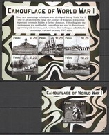 Y237 2015 PALAU WWI CAMOUFLAGE OF WORLD WAR I !!! MICHEL 20 EURO 1KB+1BL MNH - WW1 (I Guerra Mundial)