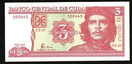 * Cuba 3 Pesos  2004 ! UNC ! - Cuba
