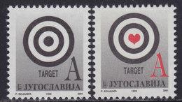 Yugoslavia 1999 Deffinitive A - Target, MNH (**) Michel 2906-2907 - Neufs