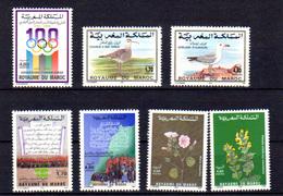 Maroc 1994, C.I.O., Marche Verte, Fleurs, Entre 1164 Et 1178**, Cote 19,30 € - Maroc (1956-...)
