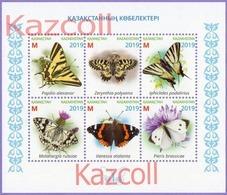 Kazakhstan 2019.  Butterflies.  Insects.   Animals. Fauna. MNH - Papillons