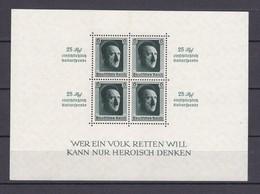 Deutsches Reich - 1937 - Michel Nr. Block 9 - BPP Signiert - Deutschland
