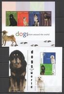 Y339 2010 MAYREAU FAUNA PETS DOGS #80-83 MICHEL 15 EURO 1KB+1BL MNH - Hunde