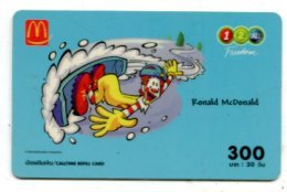 TK 17744 THAILAND - Prepaid - 12call  - Mc Donald'S - Thaïland