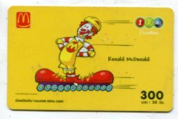 TK 17745 THAILAND - Prepaid - 12call  - Mc Donald'S - Thaïland