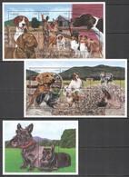 V146 ST. VINCENT FAUNA DOGS OF THE WORLD PETS DOMESTIC ANIMALS !!! 2KB+1BL MNH - Hunde