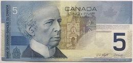 CANADA 5 DOLLARS 2002 VF++ Pick 101 (Signature Knight Dodge) - Canada