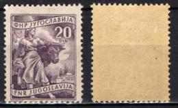 JUGOSLAVIA - 1951 - Livestock Raising - MH - 1945-1992 Repubblica Socialista Federale Di Jugoslavia