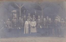 AK Gruppe Deutsche Soldaten - Atelier Schmidt, Königsbrück - Feldpost Königsbrück - Ers. Batl. 100 - 1914 (45851) - Weltkrieg 1914-18