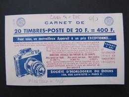 CARNET MULER 1011B-C7 **  S-1.58 - Freimarke