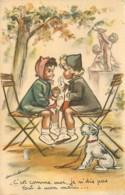 Illustration De Germaine BOURET , Carte Avec Le Chien En Collage , * 424 65 - Bouret, Germaine