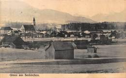 SEEKIRCHEN AUSTRIA~PANORAMA GRUSS Aus1909 KAUFMANN NITSCH PHOTO POSTCARD 42865 - Seekirchen Am Wallersee