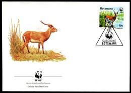 07845) Botswana 1988 - WWF 068 - Mi 431 / 434 - 4 FDC - Der Rote Litschi - Botswana (1966-...)