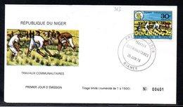 Niger 0363 Fdc Travaux Communautaires , Culture Du Riz - Agricoltura