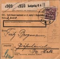 ! 1933  Paketkarte Deutsches Reich Aus Leipzig Nach Gräfenhainichen - Lettres & Documents