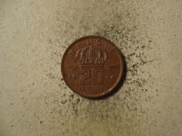 MONNAIE BELGIQUE 20 CENTIMES 1954 ( Type Mineur / Néerlandais ) - 01. 20 Centimes