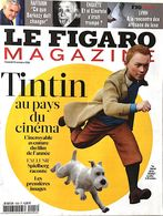 TINTIN Au Pays Du Cinema. Numéro Spécal LE FIGARO MAGAZINE. Octobre 2011.N°20896 (FRAIS DE PORT INCLUS) - Tintin