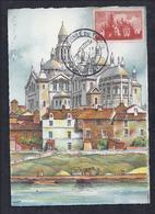 Carte Maximum Journee Du Timbre 1947 Perigueux Cathedrale - Unclassified