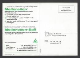 BRD - Gebühr Bezahlt Beim Postamt Nürnberg Auf Großkarte Sandoz AG - Melleretten Ca. Um 1960 - Apotheek