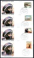 Niger 0742/45 Fdc Touareg , Selle De Dromadaire , Pont De Niamey , Tourisme , Culture, Costume - Ponts