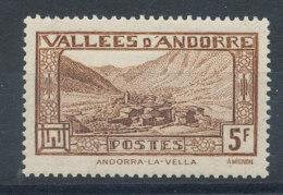 Andorre  N°43* Andorre-la-Vieille Cote 1€ - Andorre Français