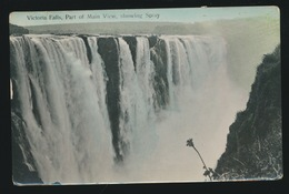 VICTORIA FALLS  PART OF MAIN VIEW SCHOWING SPRAY - Zimbabwe