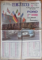24 H Du Mans 1966.Ford 3 ème Round. - Journaux - Quotidiens