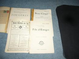 Ernest Daudet  3 Livres Avec Envoi Autographe - Libri, Riviste, Fumetti