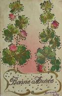 """Neujahr, Kleeblatt"" 1905, Golddruckprägekarte ♥ (4822) - Neujahr"